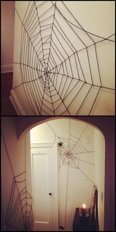 yarn spider webs