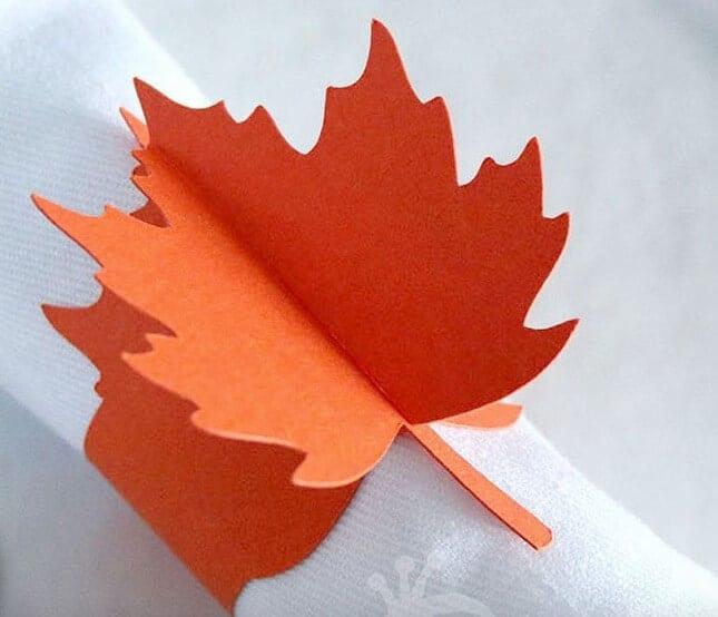 leafy napkin rings
