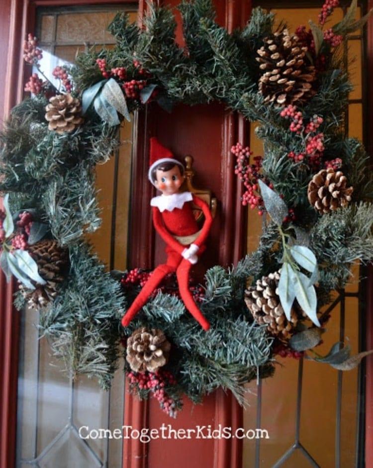 elf in wreath