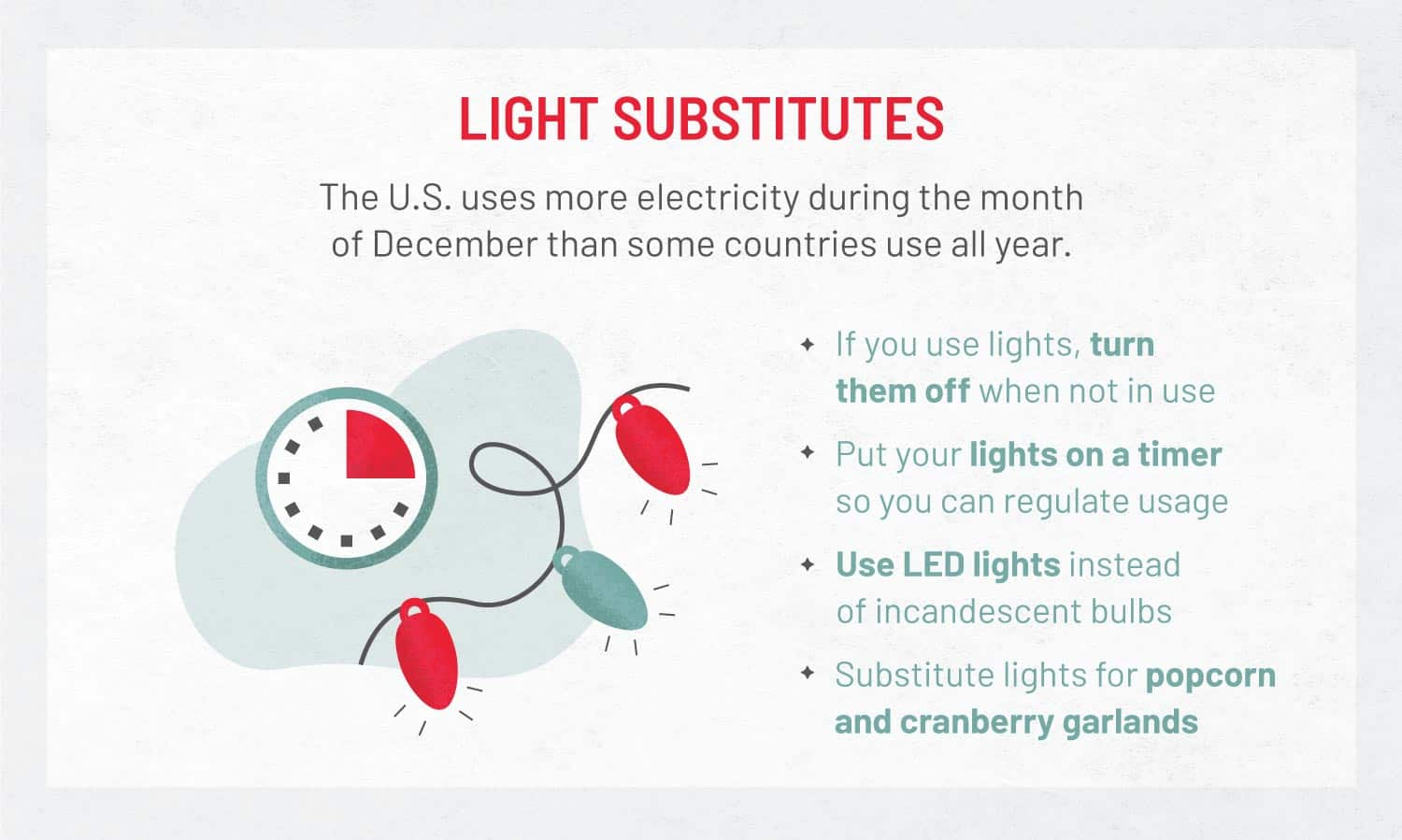 graphic that shows light substitutes