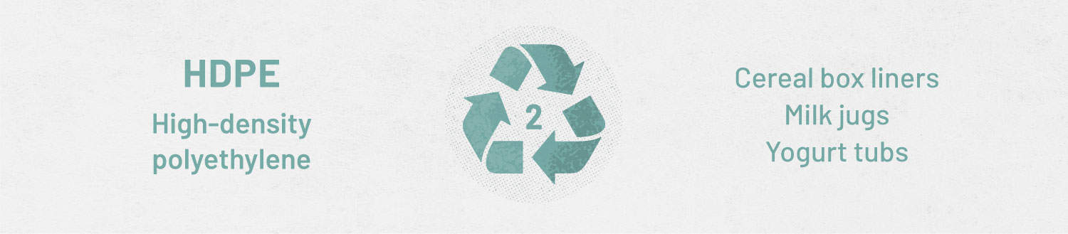 plastic recycling guide - type 2