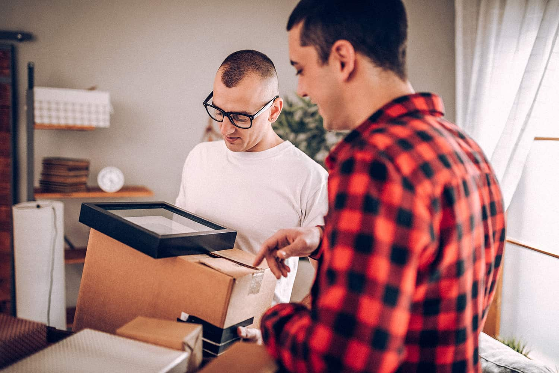 men unpacking
