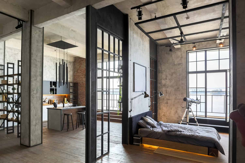 industrial style studio