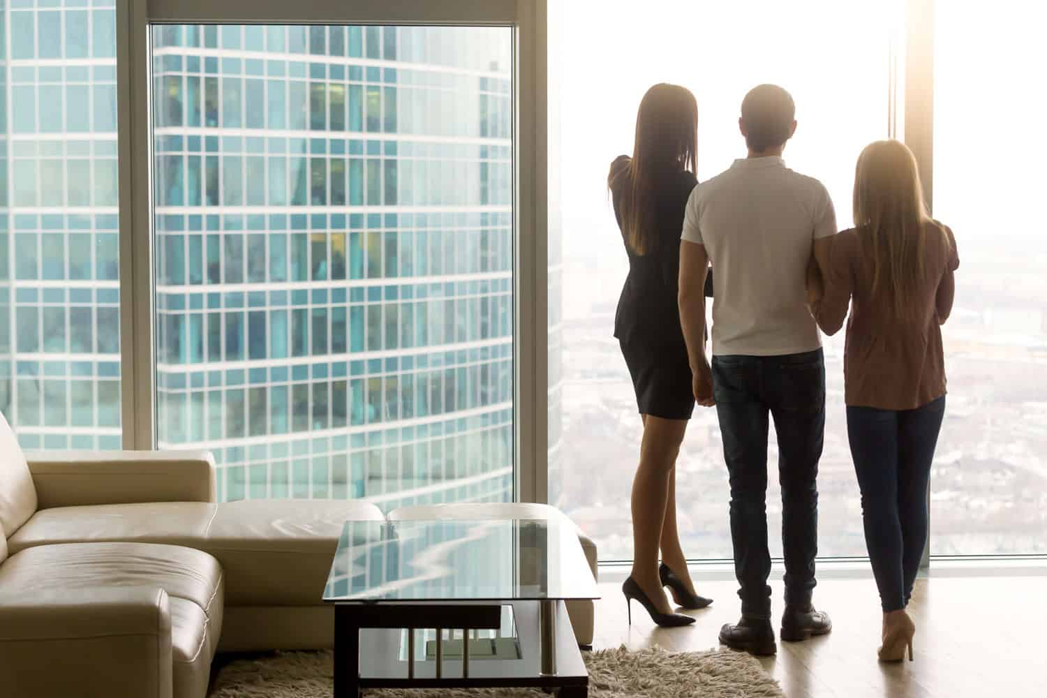 couple looking at apartment