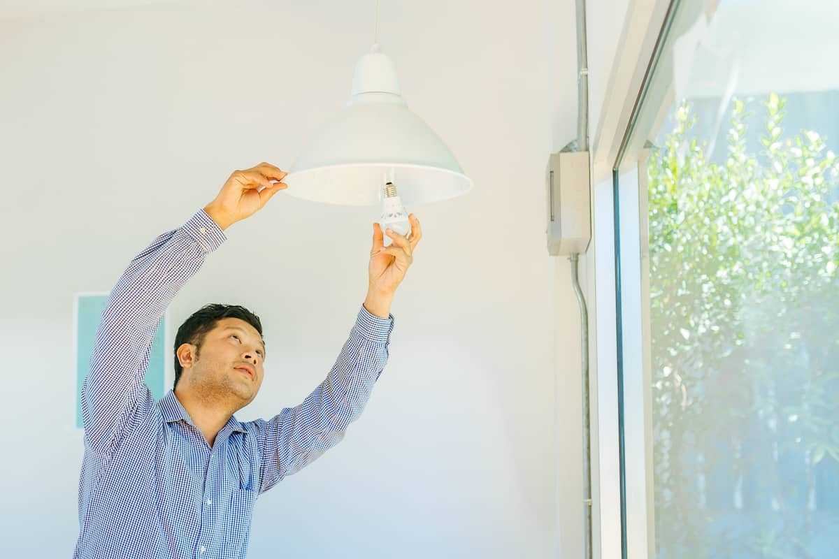 changing light bulbs