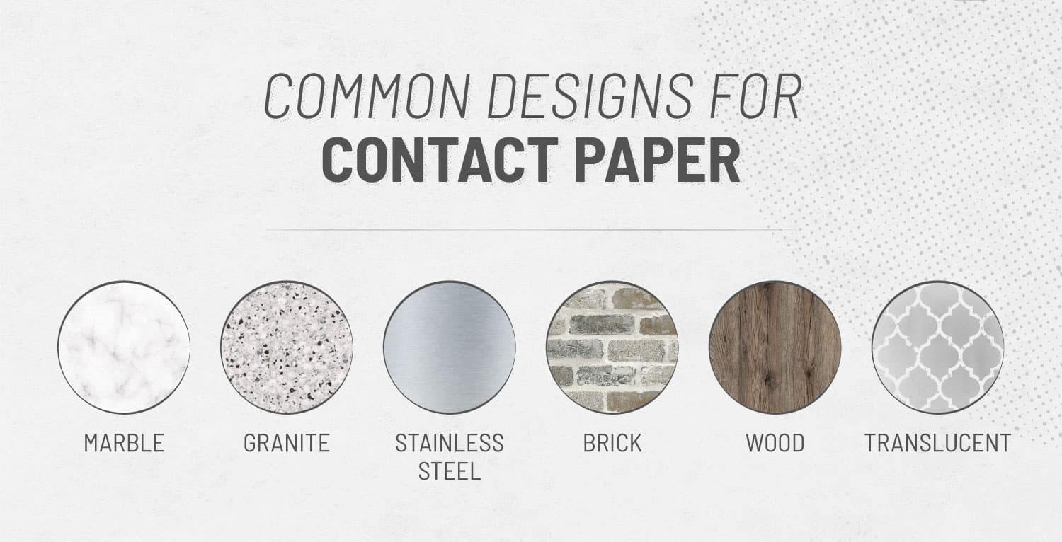 photo that shows contact paper designs