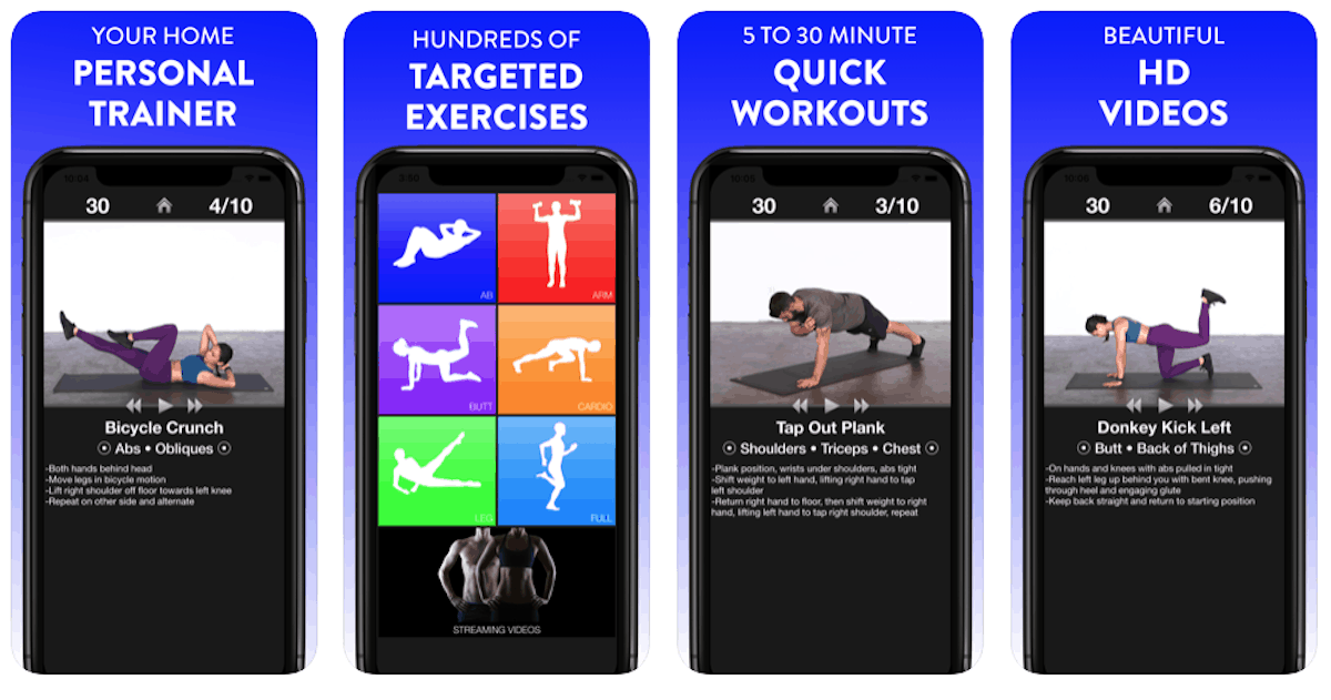 dailyi workouts fitness trainer