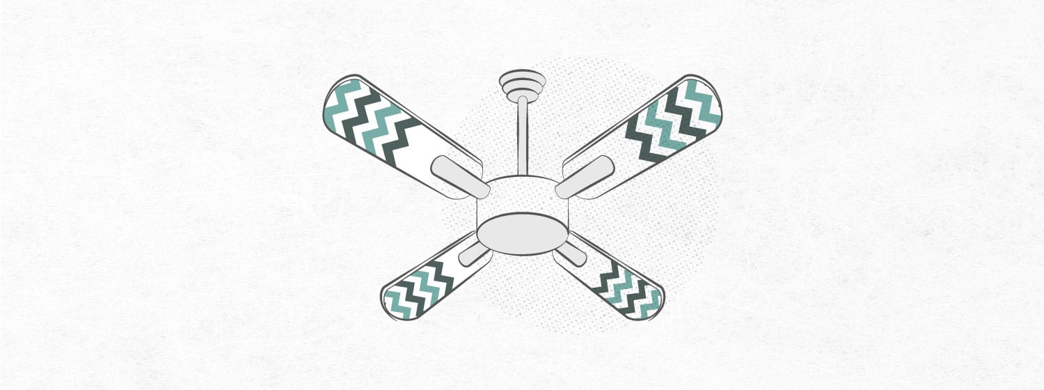 graphic that shows a fan with contact paper