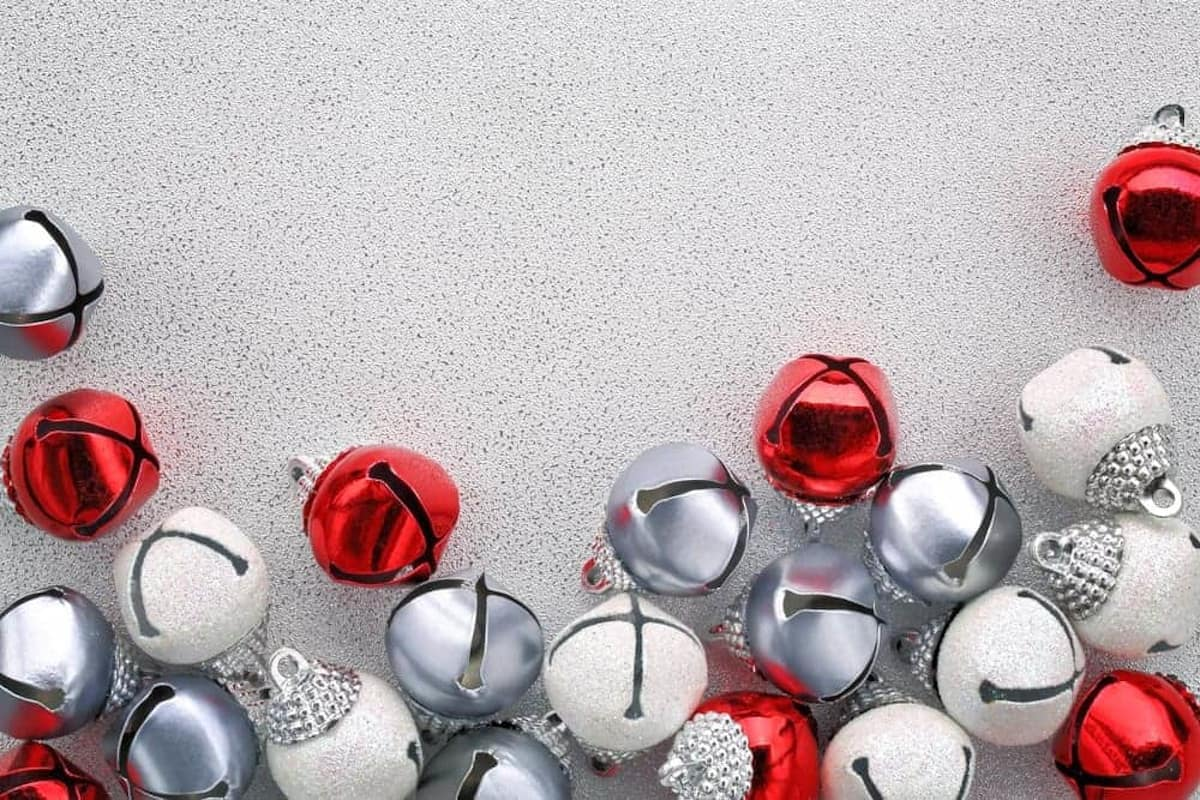 red, white and silver jingle bells