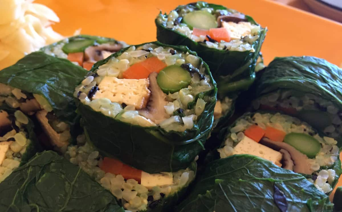 Meatless sushi from Cha-Ya