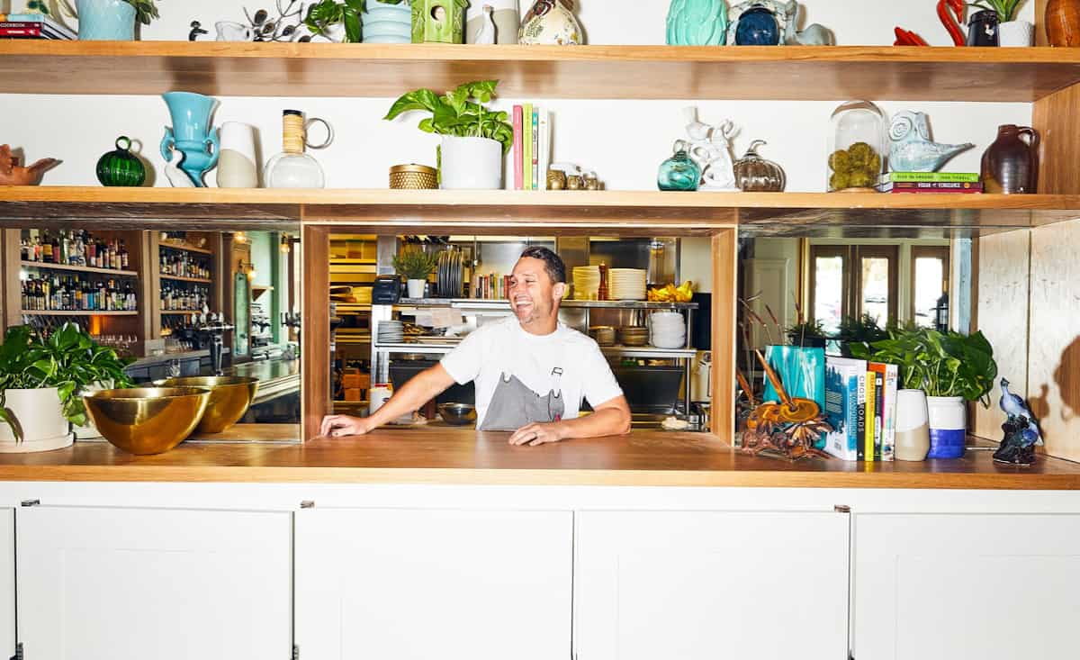 Chef Blair behind the counter at Wildseed