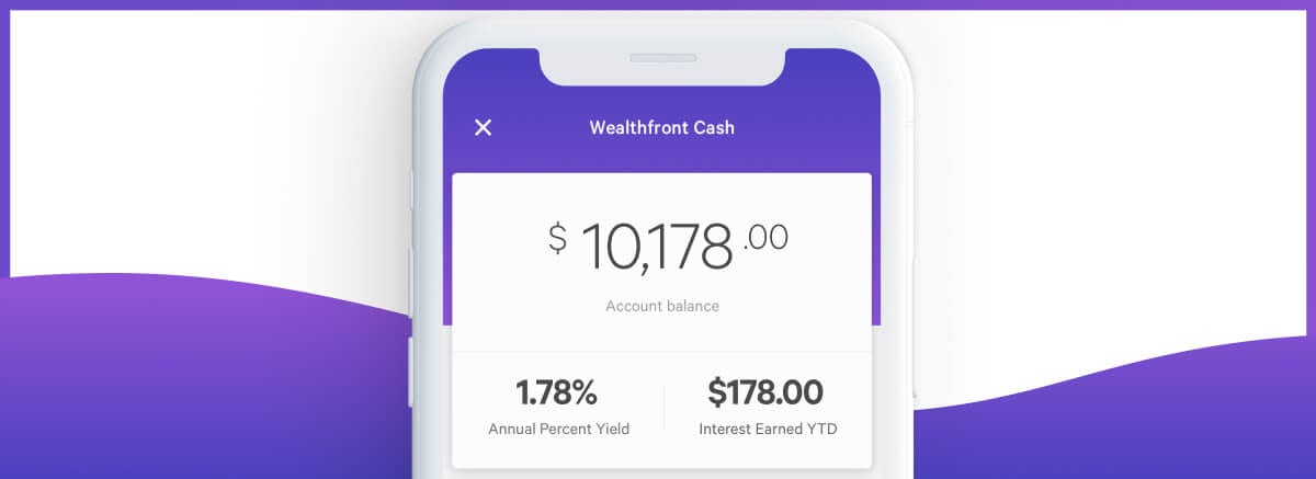 Wealthfront app screenshot