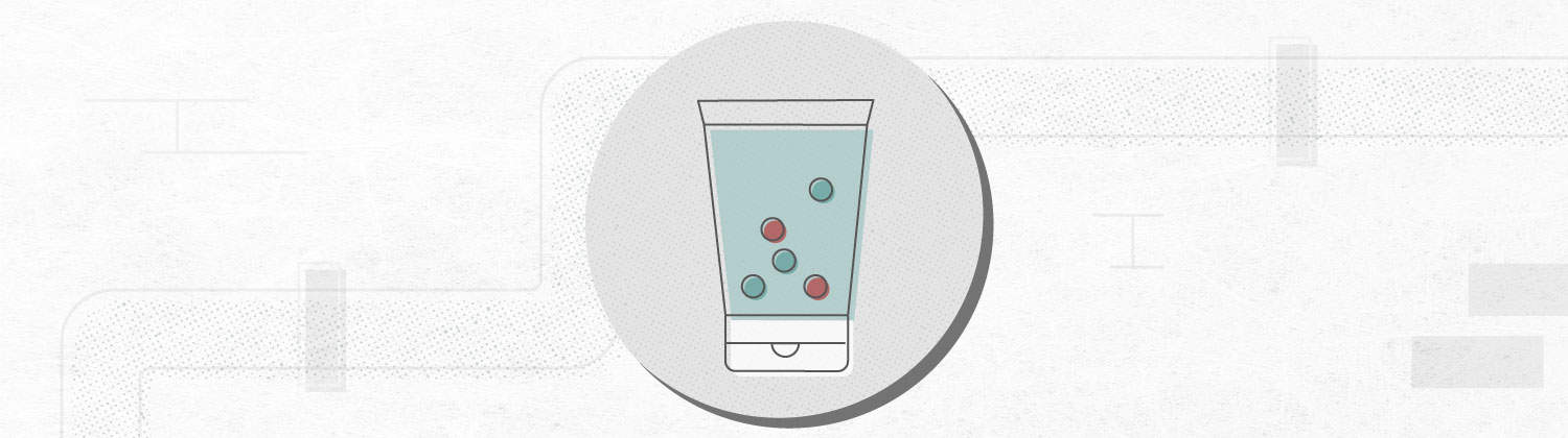 graphic that shows microplastics in a facial cleanser