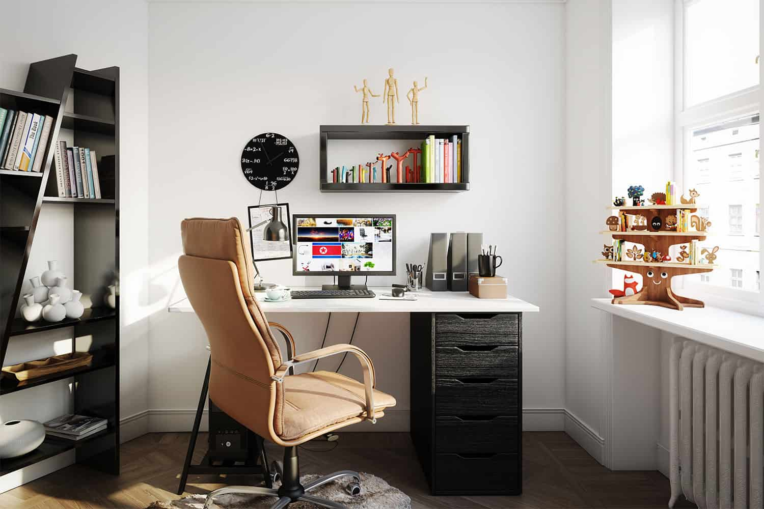 photo of organized home office