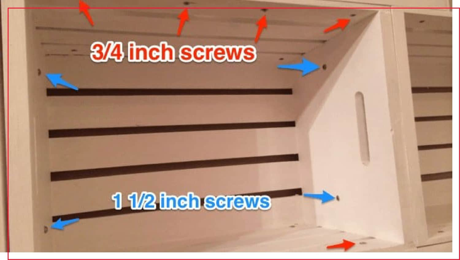 photo that shows how to assemble a crate bookshelf