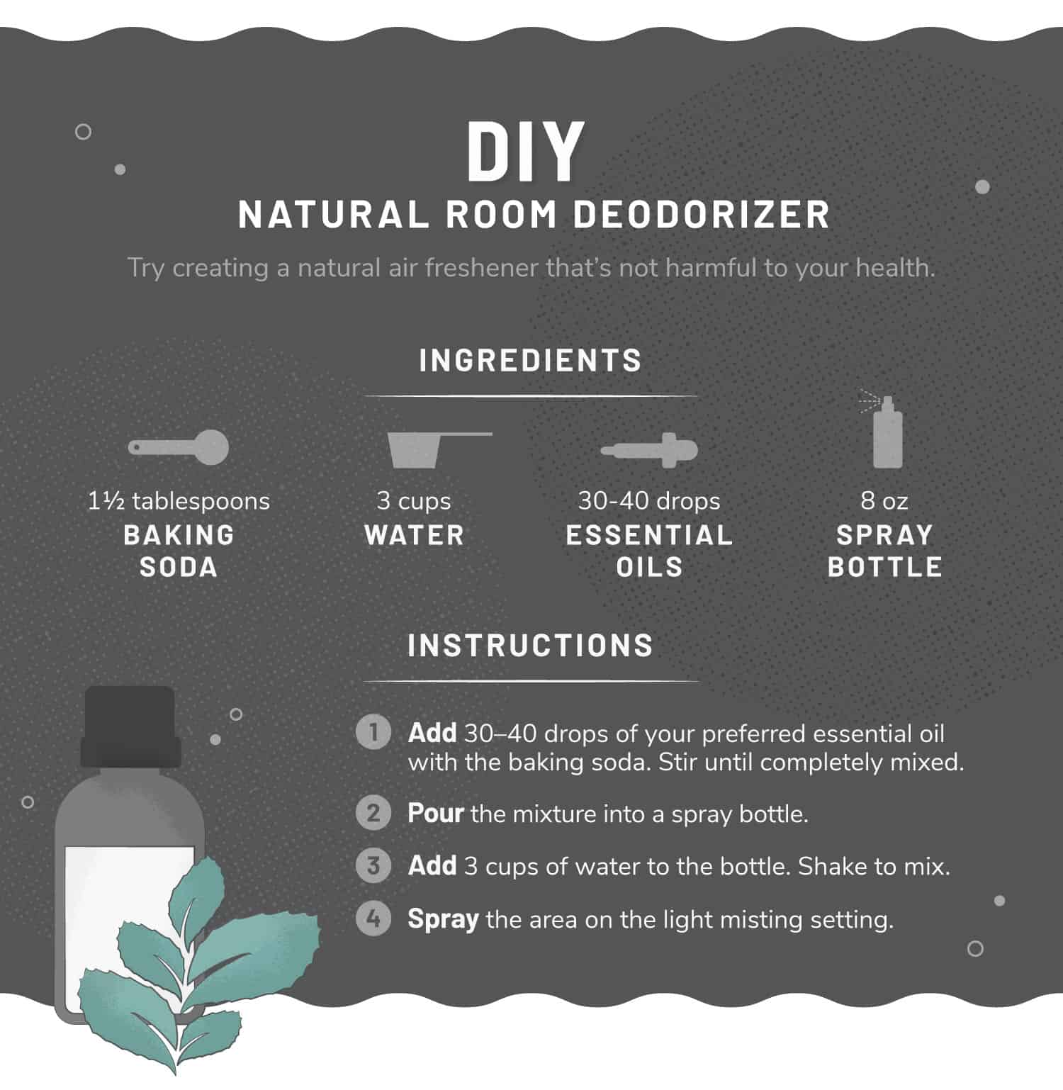 illustration of DIY room deodorizer