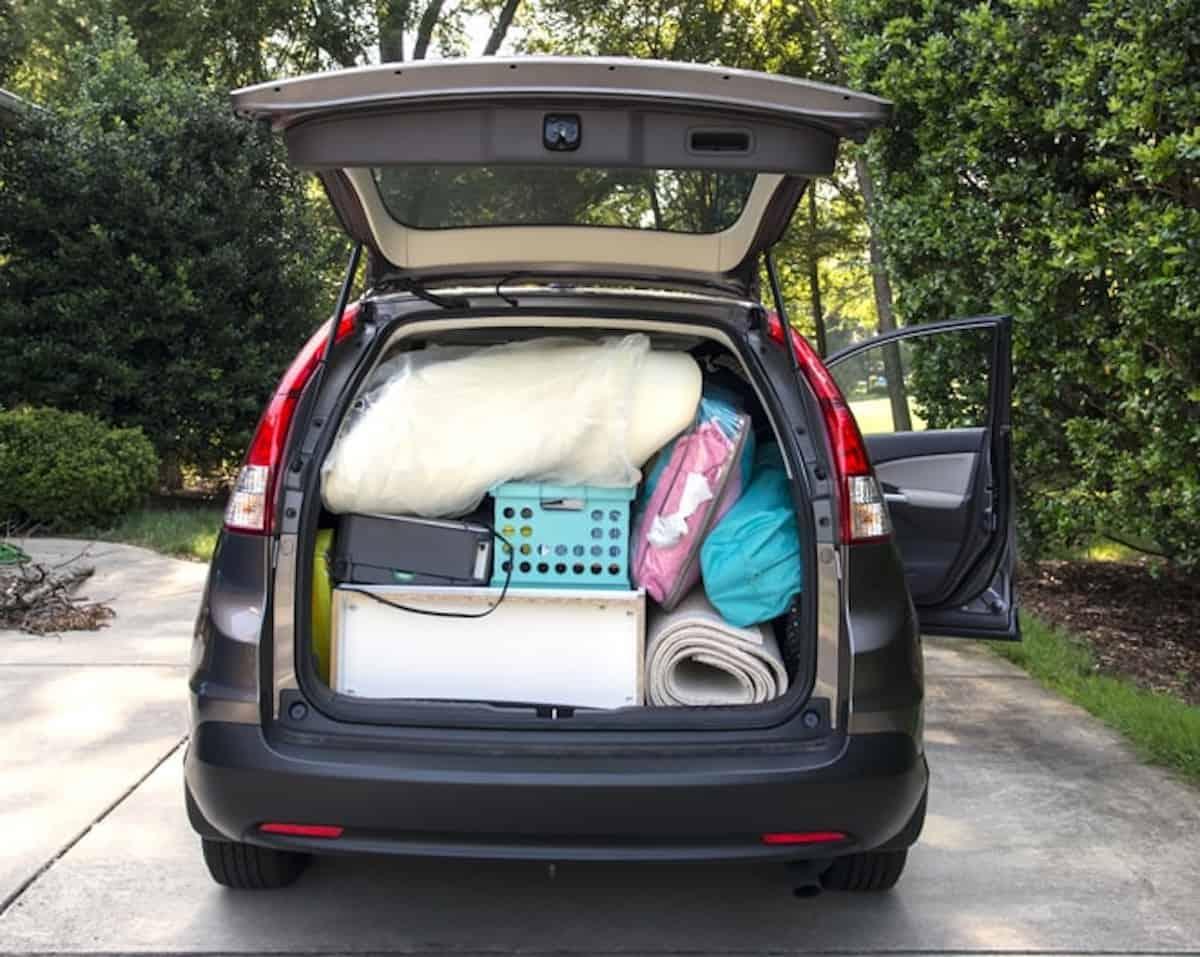 Auto imballata e pronta a muoversi.