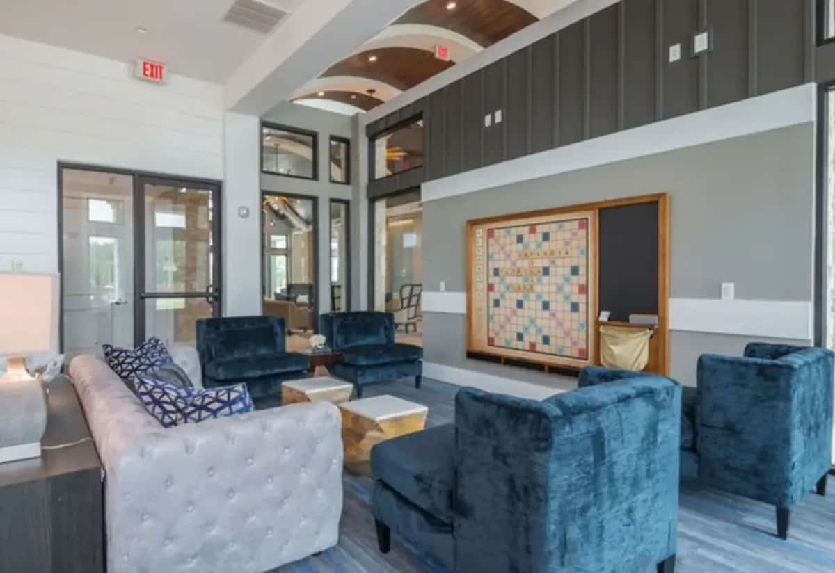 The game room at the Ridgelake Apartments in Sarasota, FL