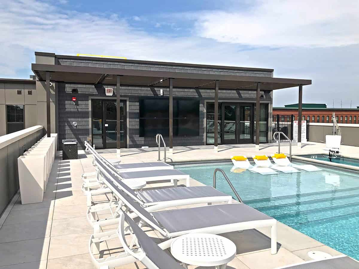 The pool at 1400 Russell Luxury Apartments — St Louis, MO