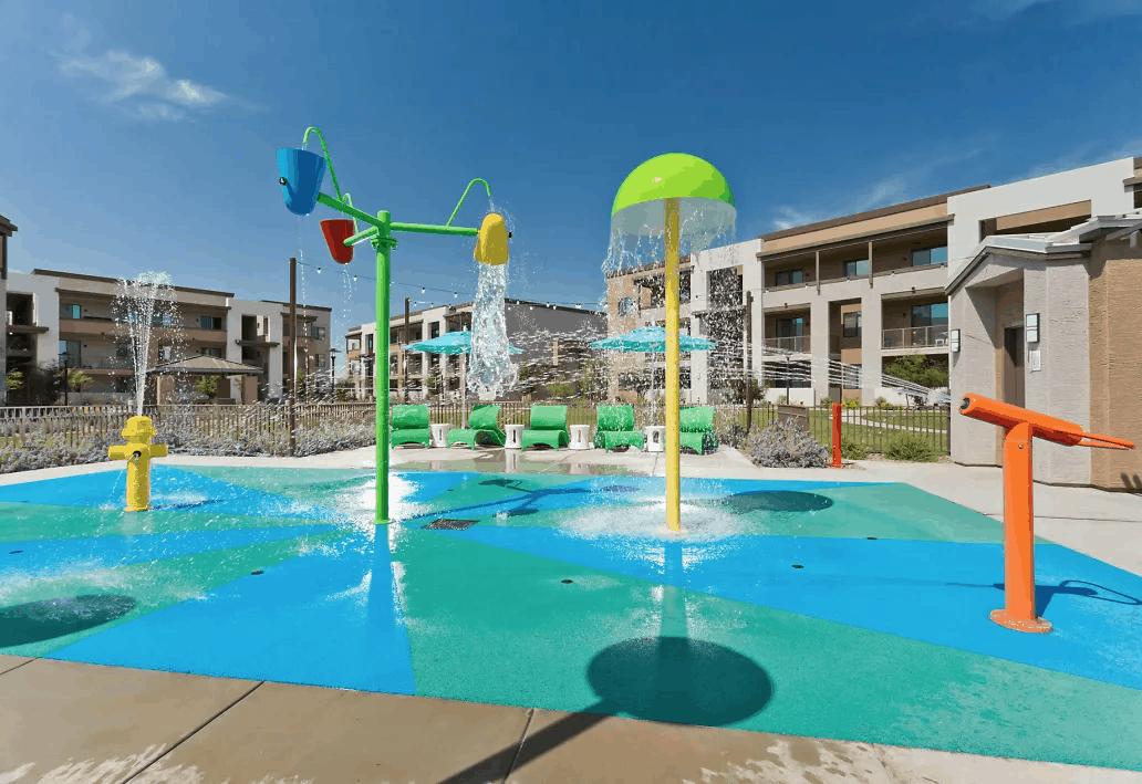 The pool at Evolution at Estrella Falls — Goodyear, AZ
