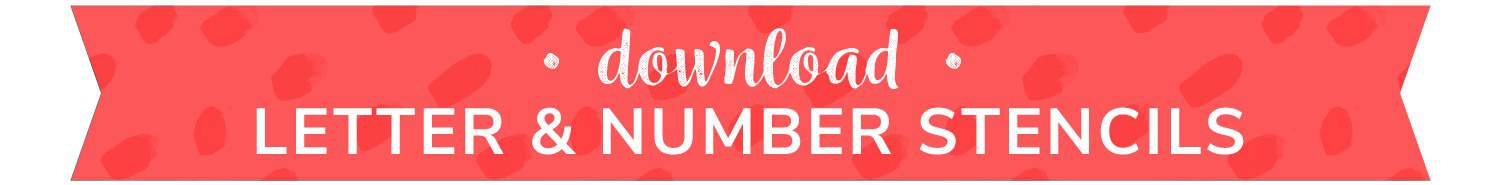 download number and letter stencils