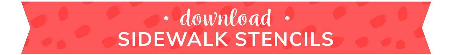 download button for sidewalk stencils