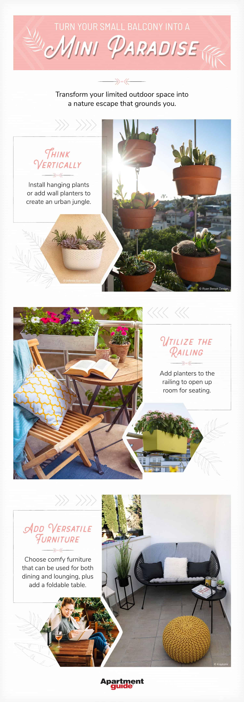 ways to make a small balcony garden