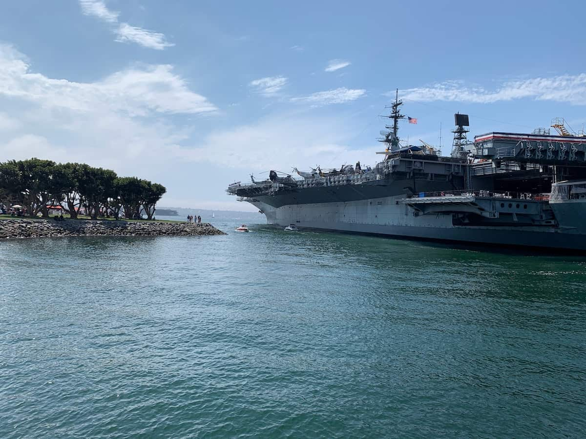 aircraft carrier in san diego