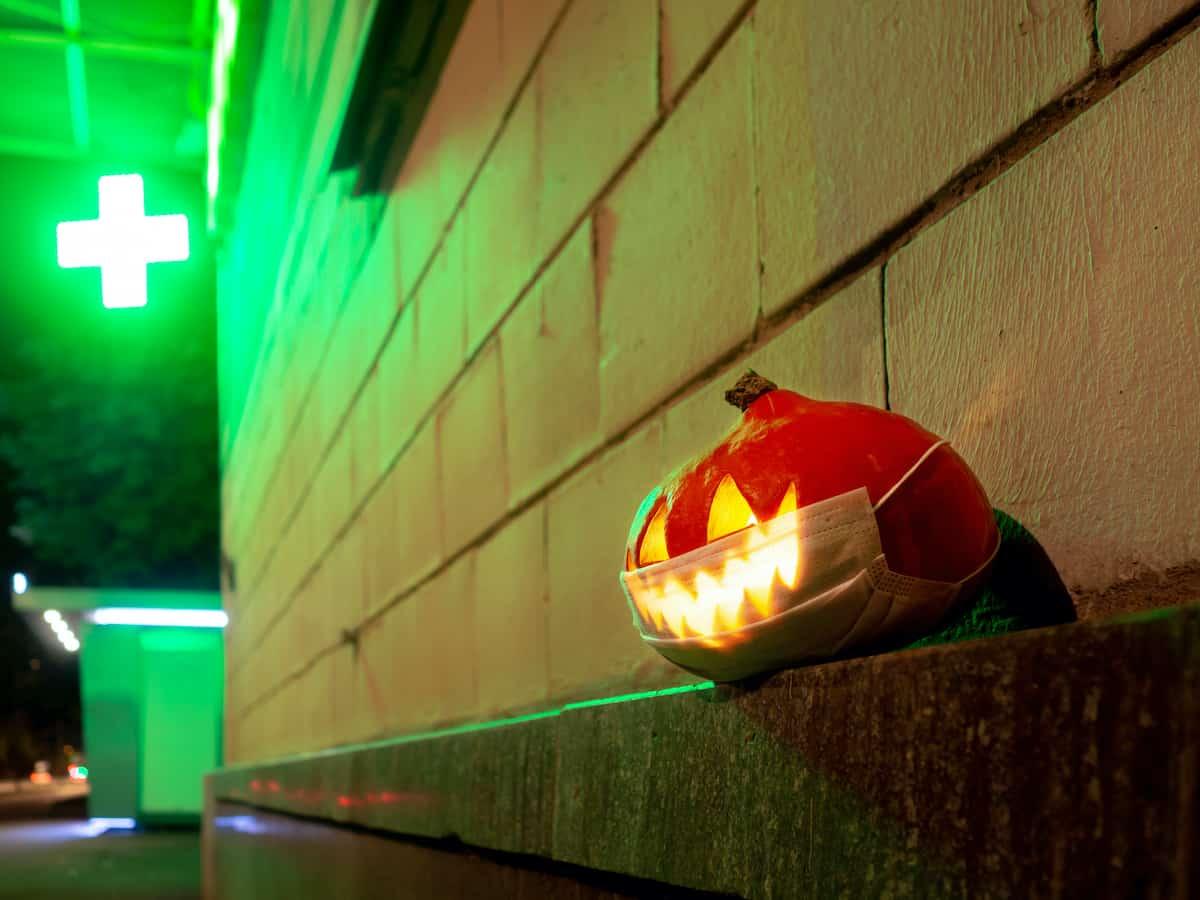 halloween coronavirus mask