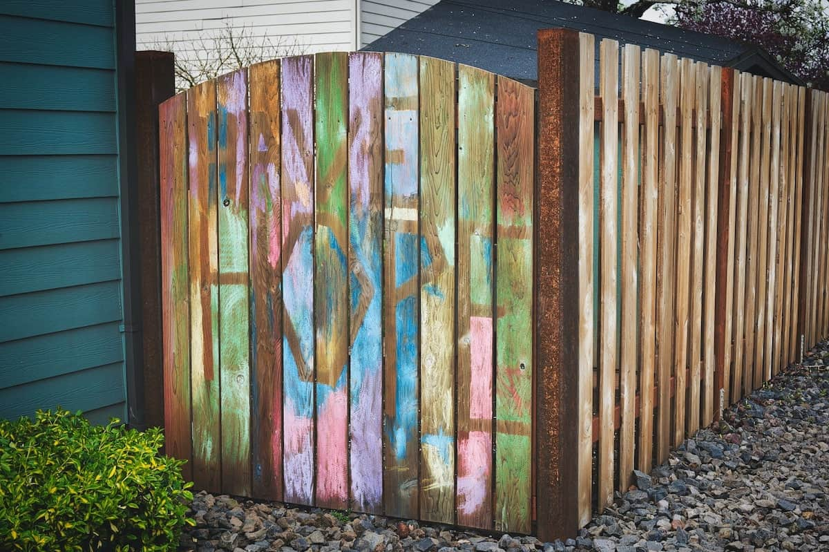 fence drawing