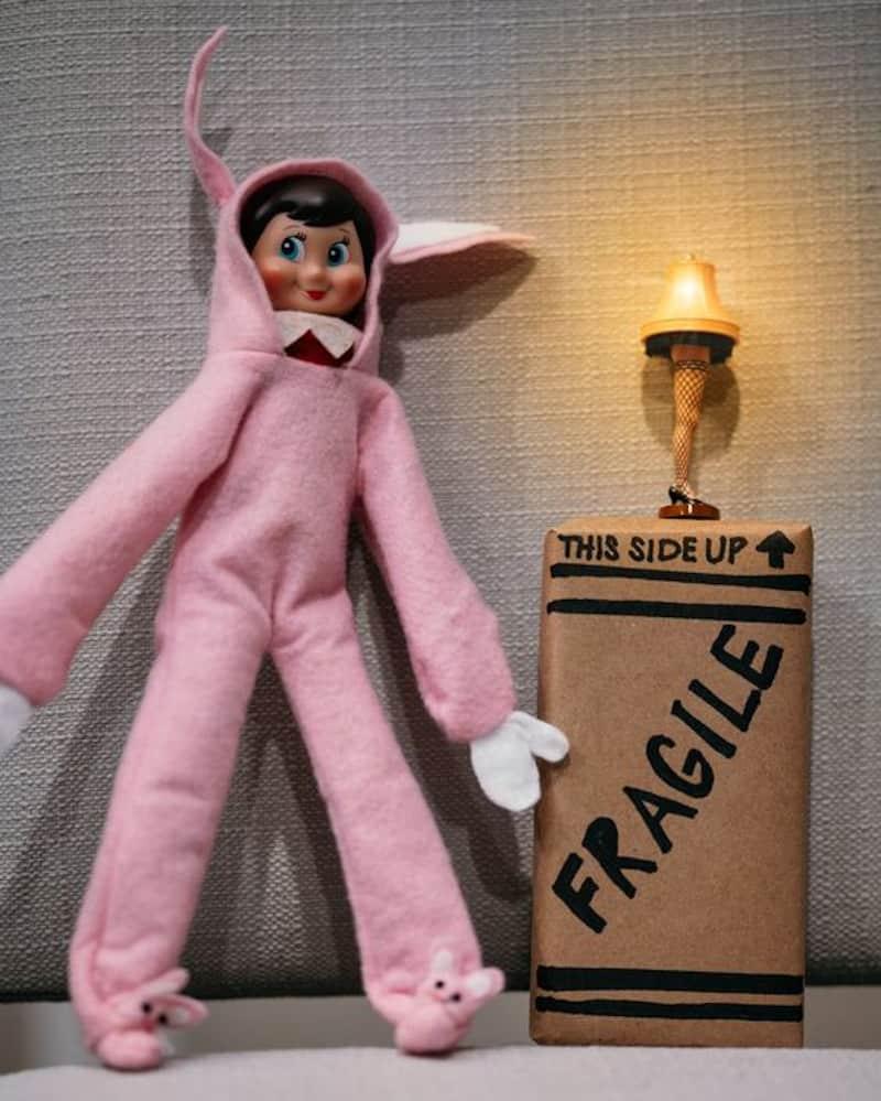 Elf dressed as Ralphie