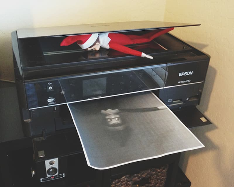 Elf on the copy machine
