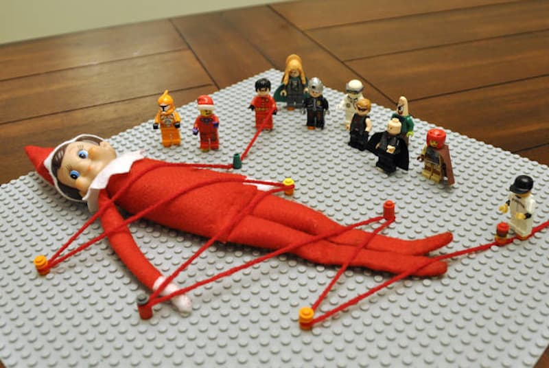 Elf kidnapped by legos