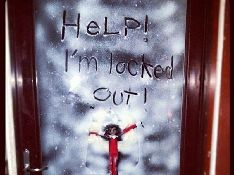 Elf locked outside