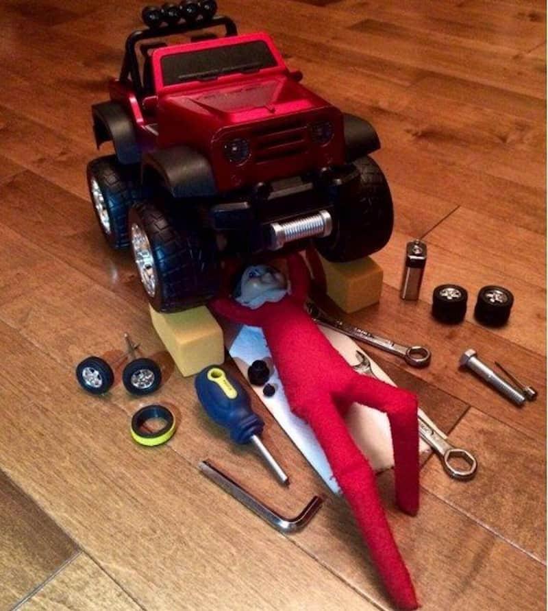 Elf working as a mechanic