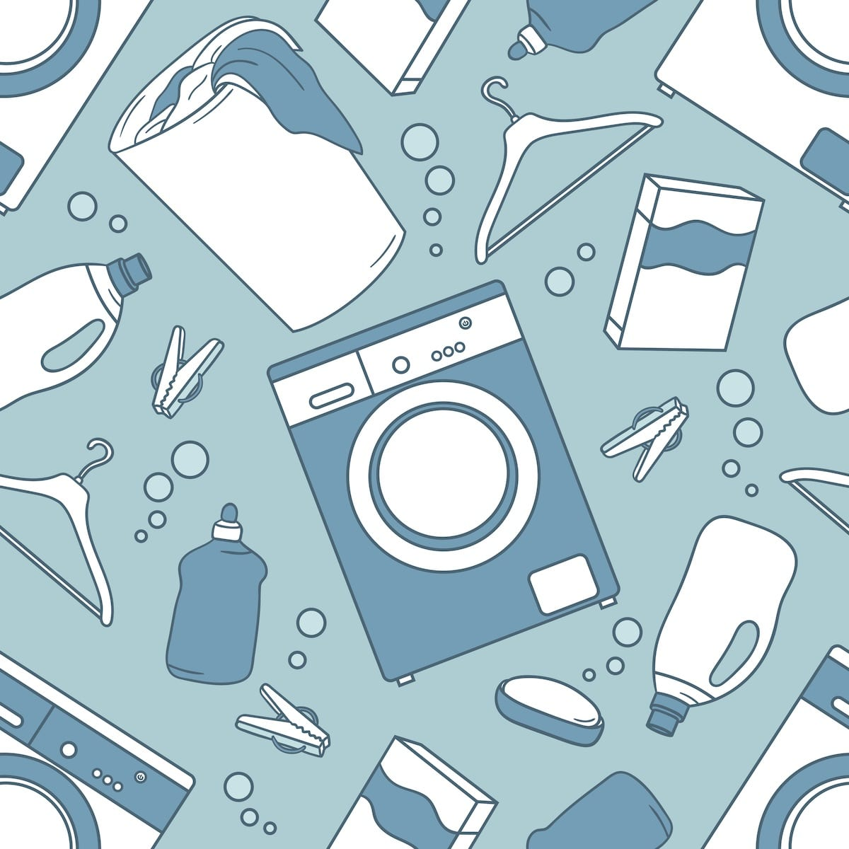 wallpaper laundry room ideas