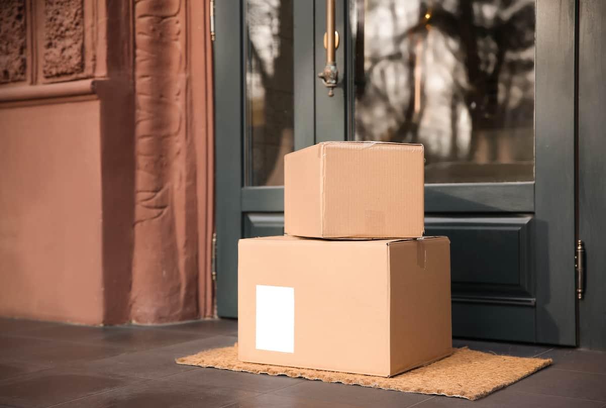 boxes at front door