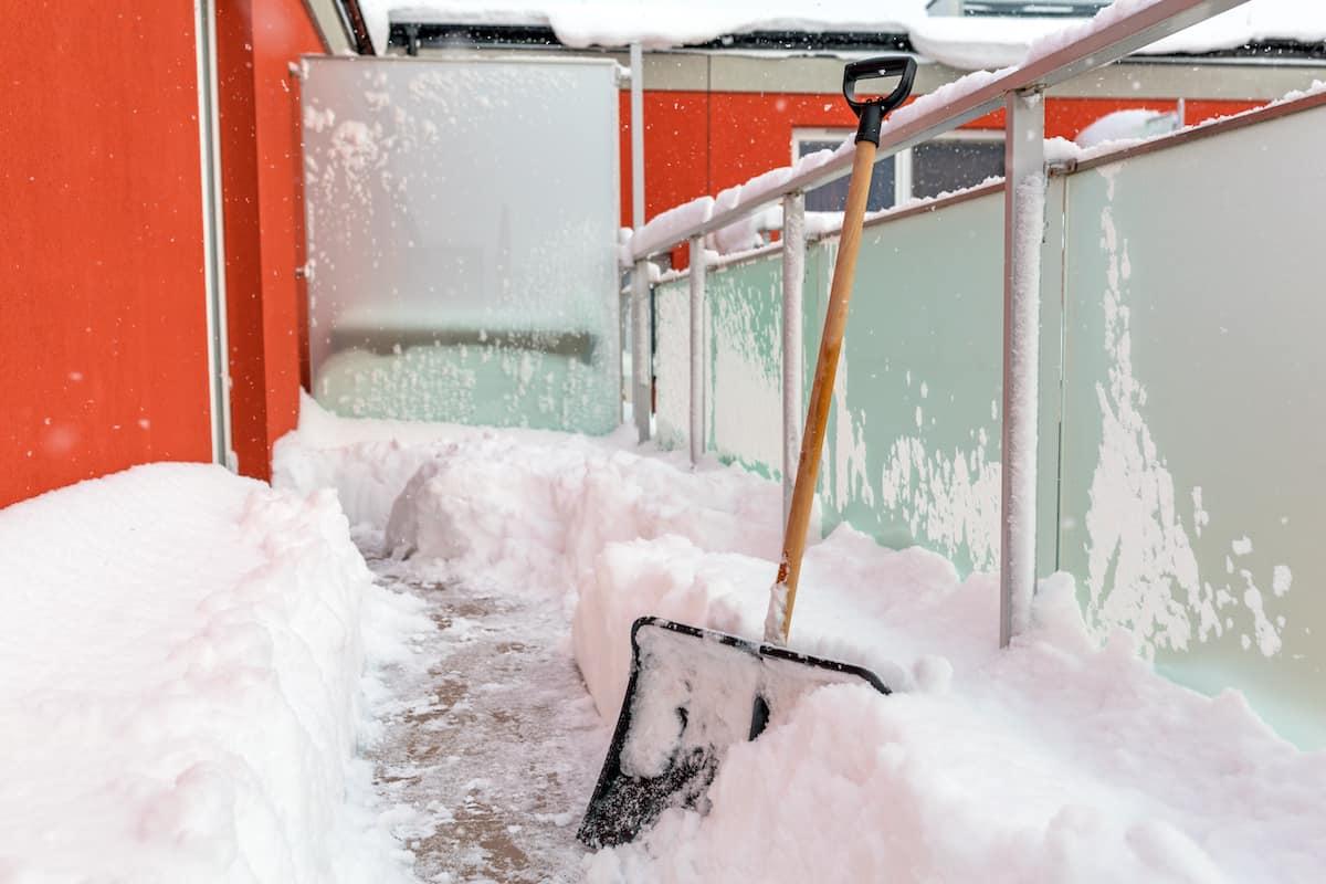 winter balcony snow