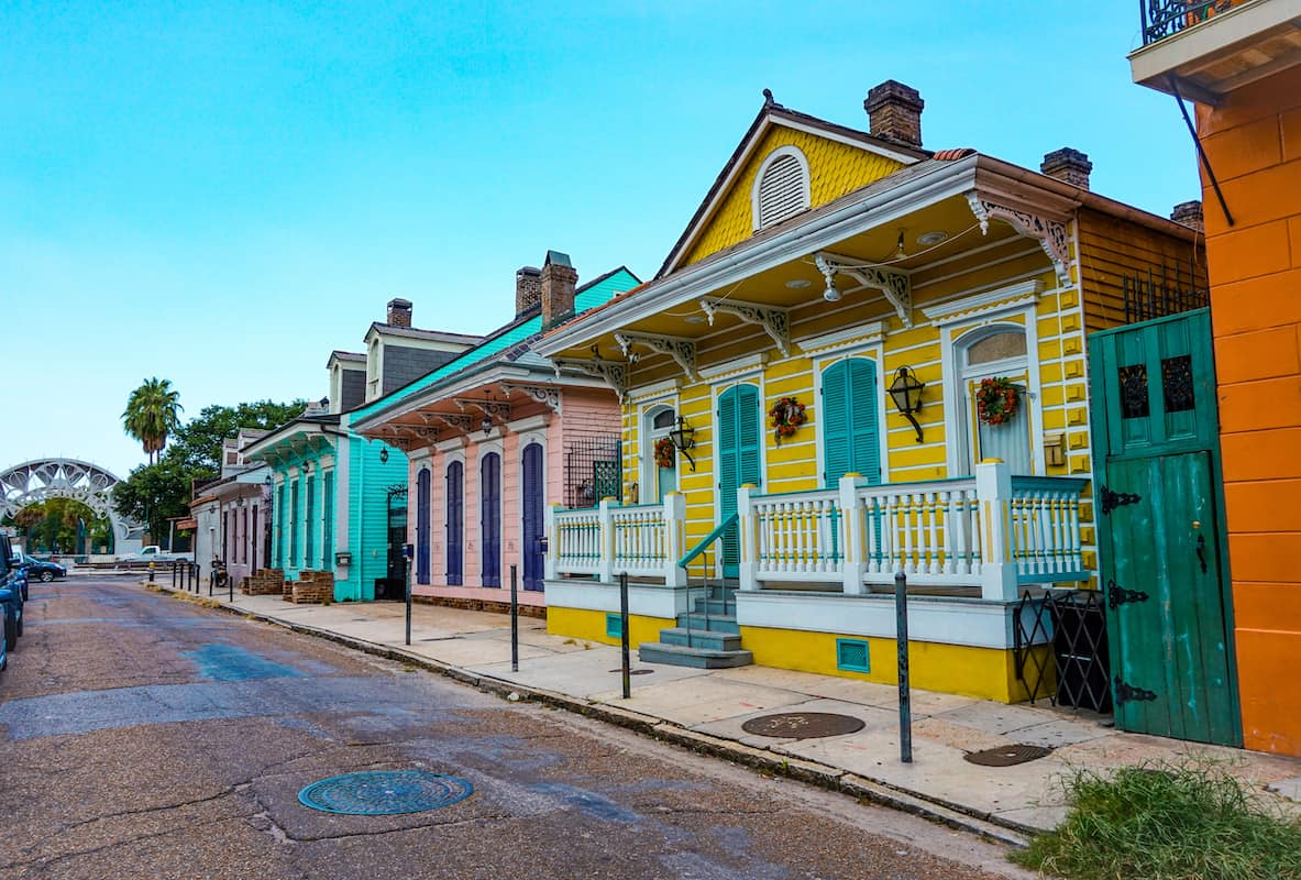 colorful streets in new orleans