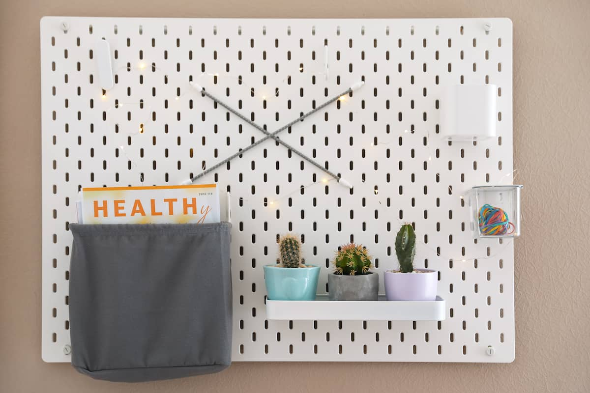 pegboard for hanging pictures on drywall