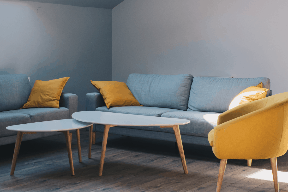 Couches, chairs and a coffee table.
