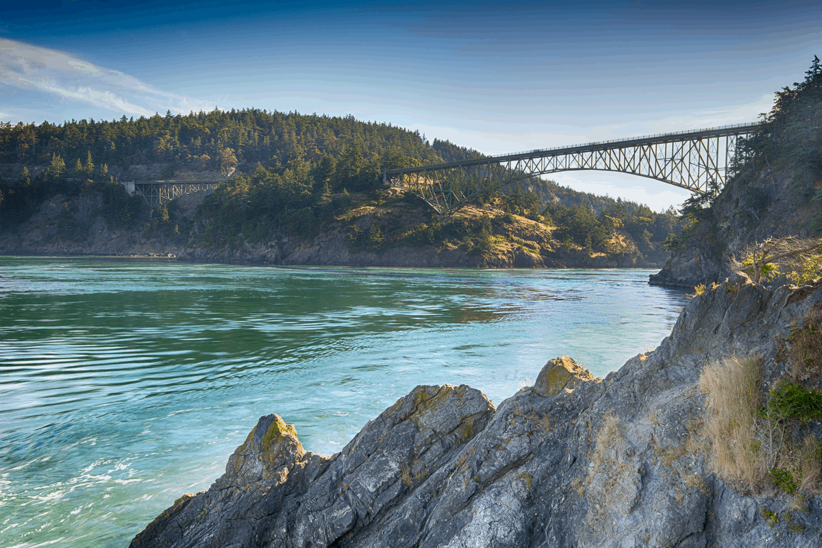 Deception Pass in Washington.