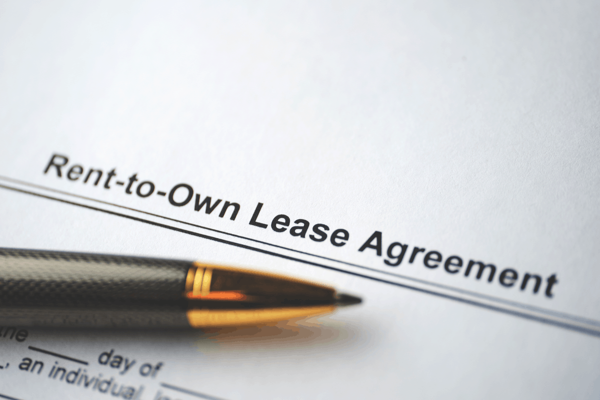 A rent-to-town lease agreement