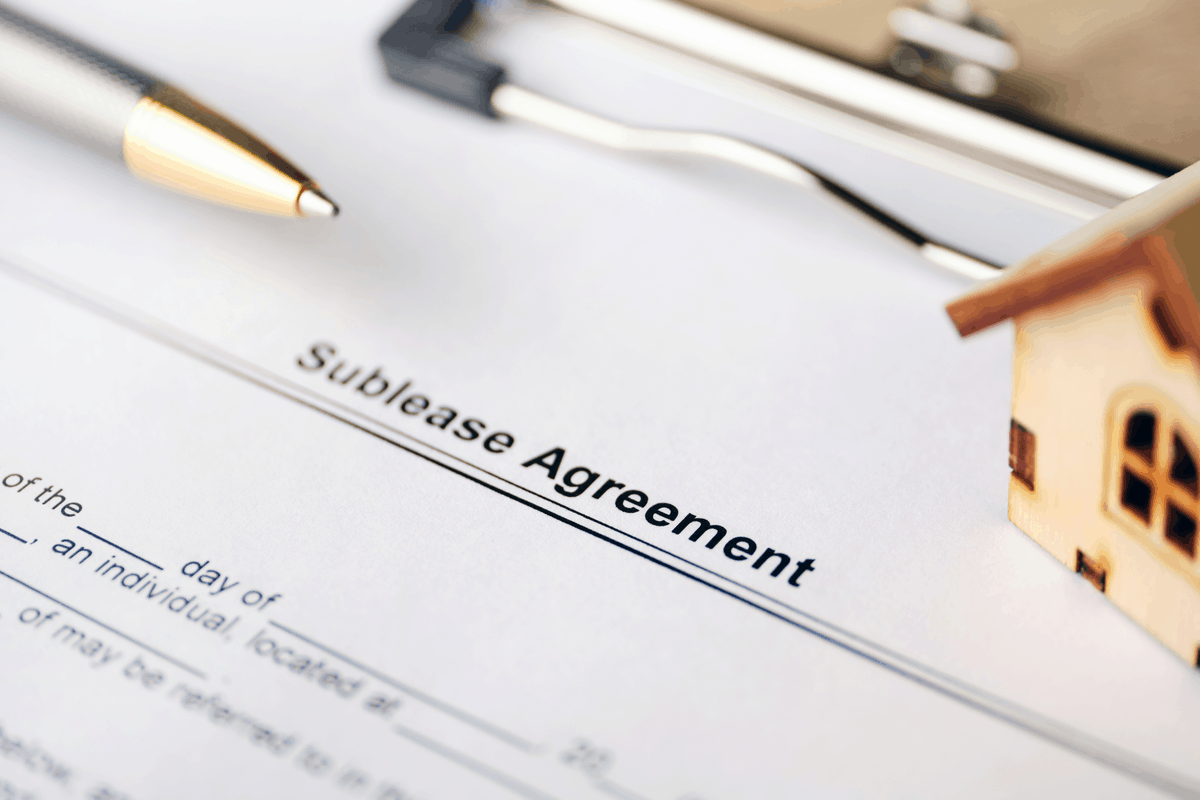 Sublease agreement.