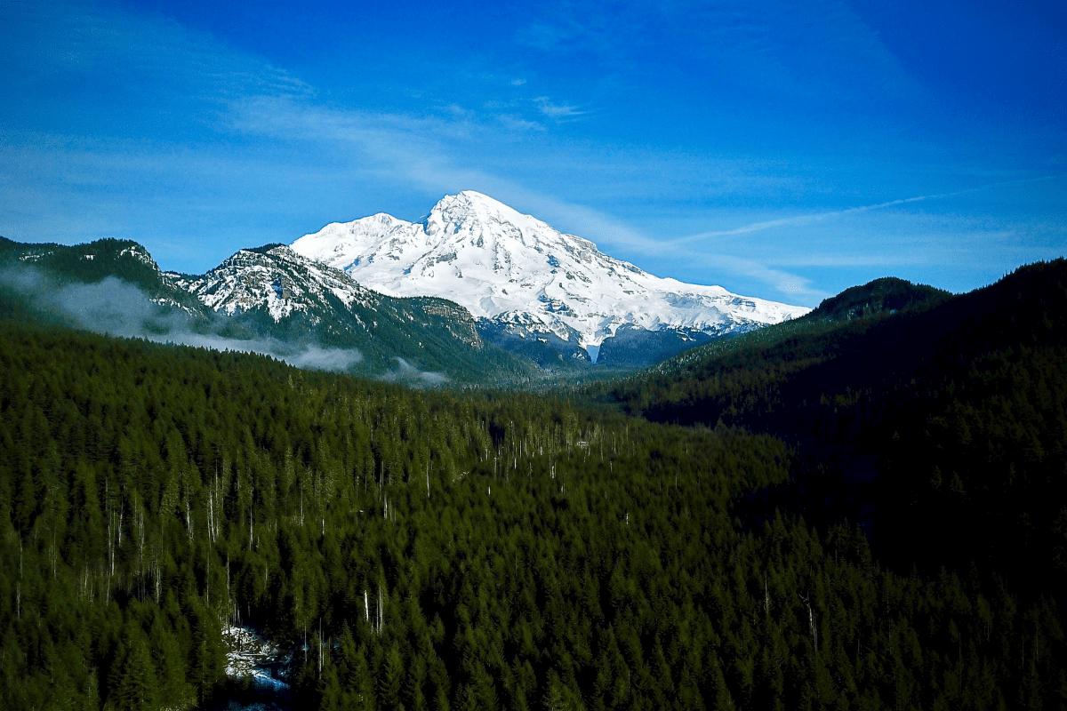 Mt. Rainier in Washington.